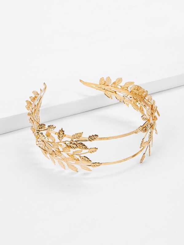 e66d999523 Metal Leaf Headband | SHEIN UK