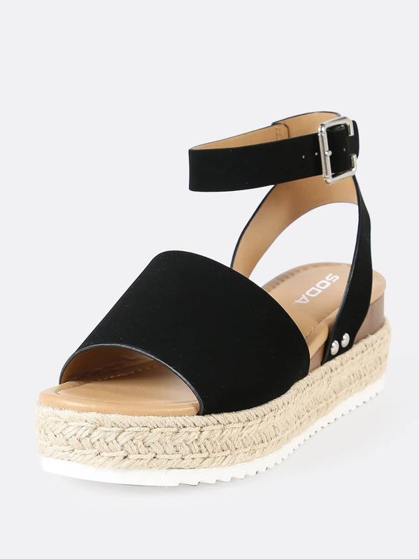 5b9f84d43 Espadrille Platform Ankle Strap Wedge Sandals