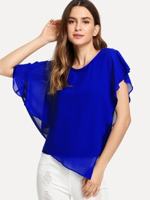 Asymmetric Layered Cape Top