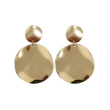 Gold Casual Dangle Earrings, size features are: