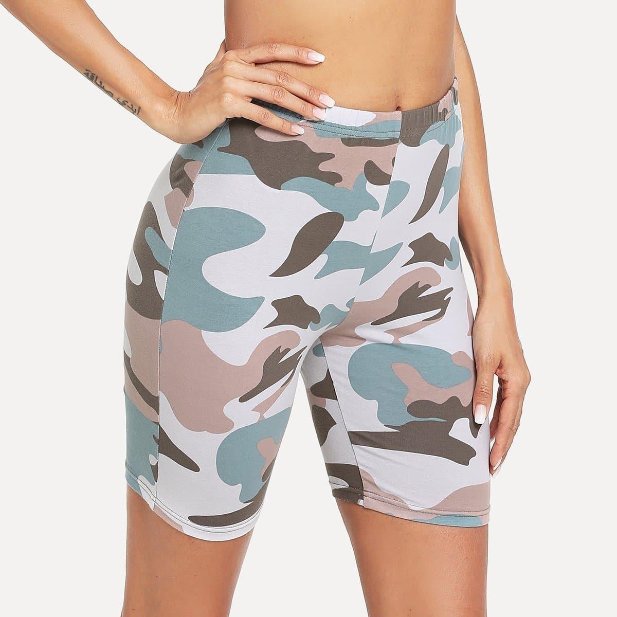 - Camo Print Short Leggings