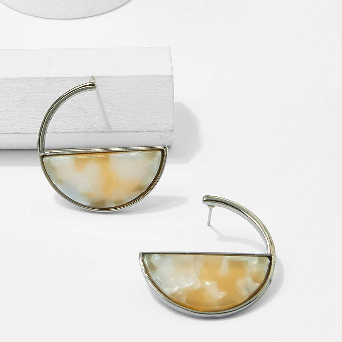 - Half Circle Hoop Earrings