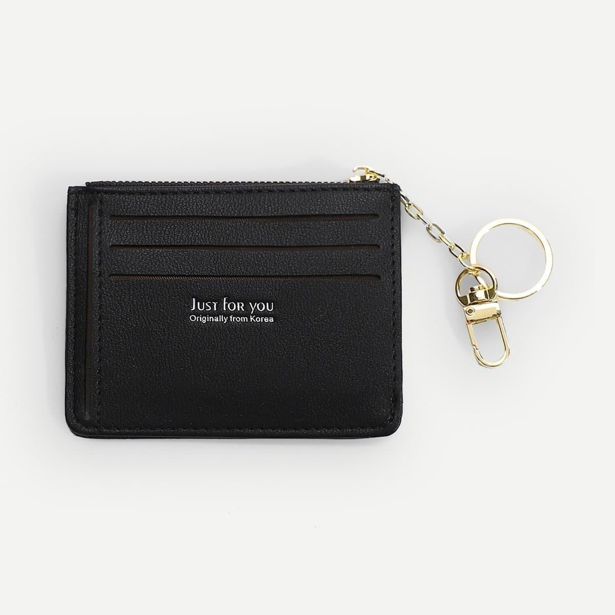 Zipper Trim Card Wallet