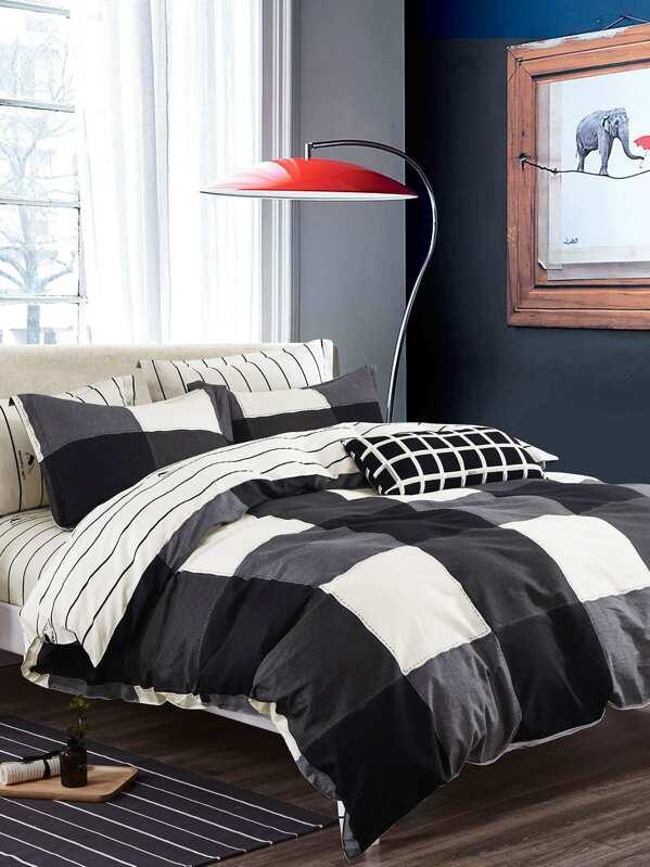0aaa299250 Plaid & Striped Duvet Cover 1PC | SHEIN