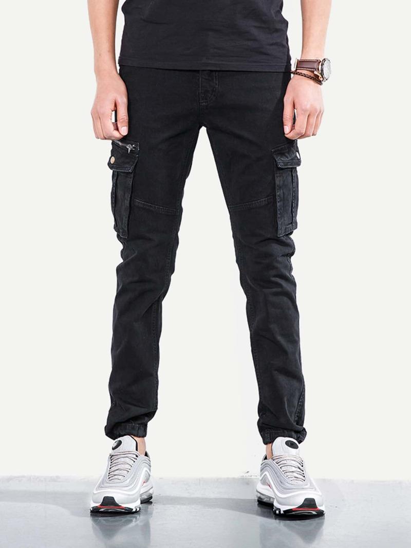 Homme Élastique Avec Poche À Pantalon Pied NnXPkO80wZ