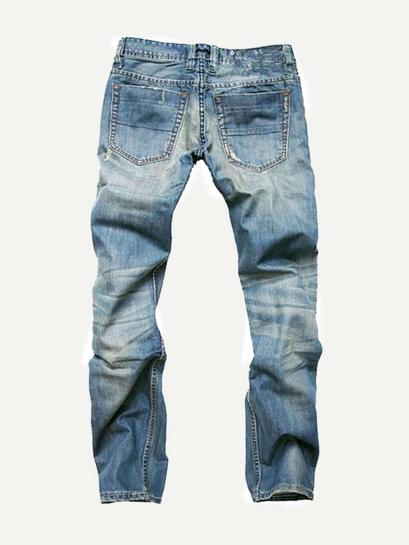 m nner zerrissene jeans german shein sheinside. Black Bedroom Furniture Sets. Home Design Ideas