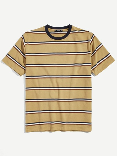 Guys Striped Print Tee