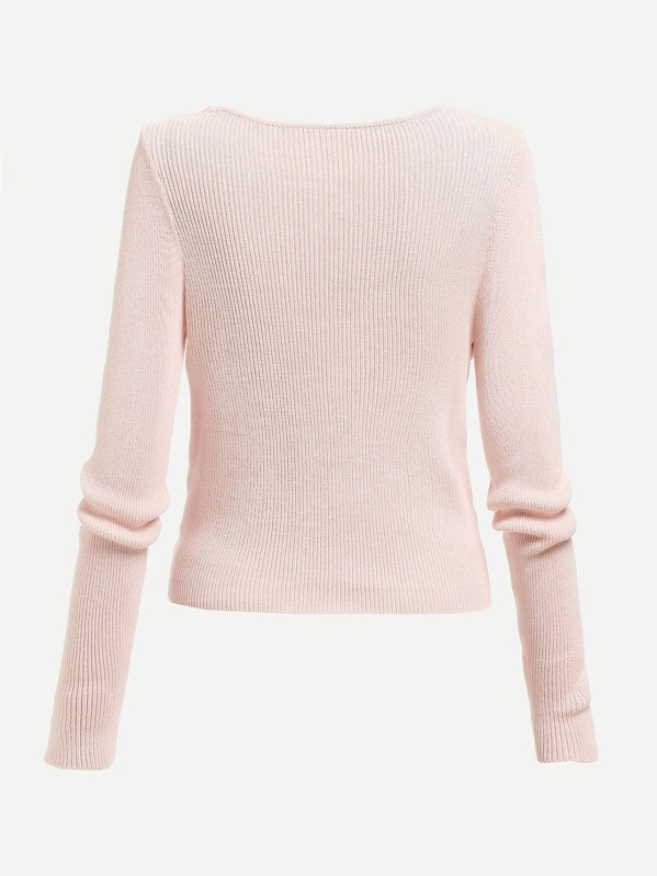 10fc8ce558 Cheap Pearl Beading Twist Front Jumper for sale Australia | SHEIN