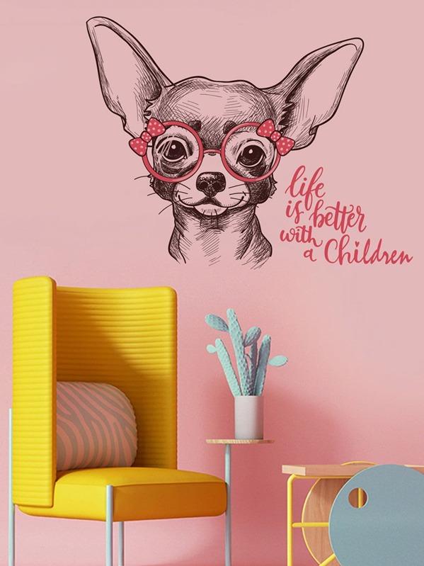 Adesivo da parete per cani dei cartoni animati shein