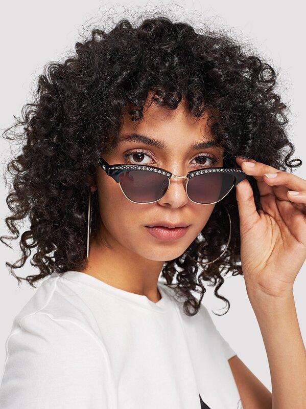 1dd1f6d4a3 Gafas de sol con diseño de diamante de imitación | SHEIN ES