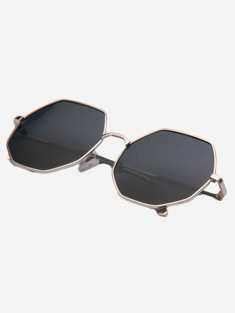 894d137f1 Metal Frame Polygon Sunglasses | ROMWE