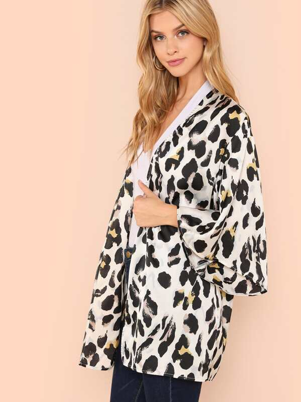 f905f5e51c Leopard Print Kimono