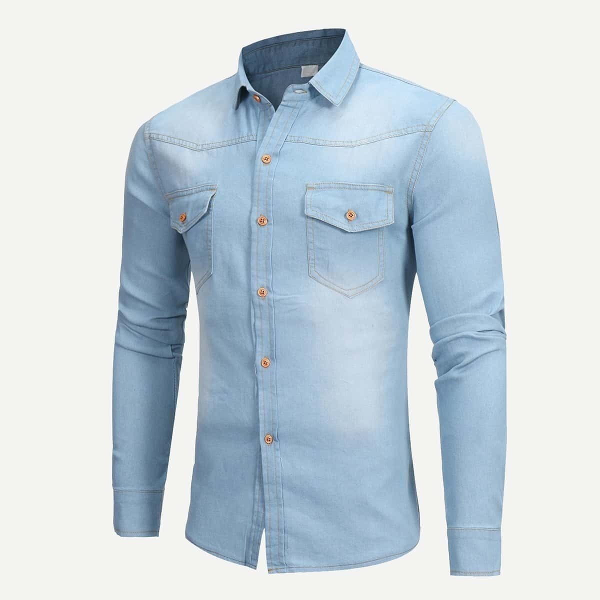 Мужчины желают простой джинсовой блузы