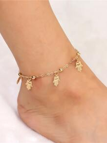 Hand Decorated Chain Anklet