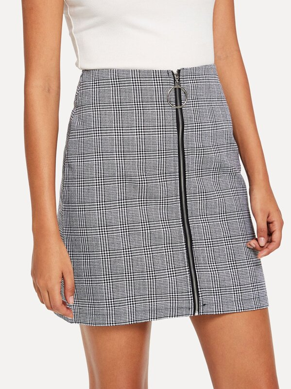 74bfaa346f Cheap Zip Up Front Checked Skirt for sale Australia | SHEIN