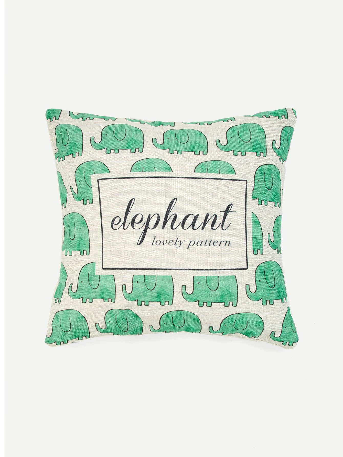 kissen mit buchstaben und elefant muster german shein sheinside. Black Bedroom Furniture Sets. Home Design Ideas