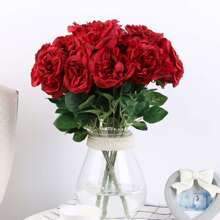 Artificial Flower Bunch With 7pcs Rose