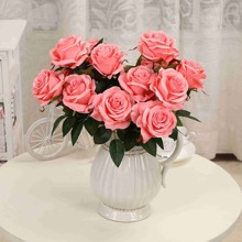 Artificial Flower Bunch With 9pcs Rose