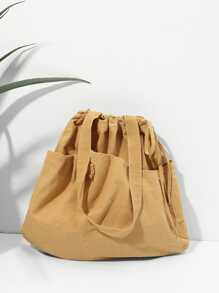 Tote Bag With Bow Detail