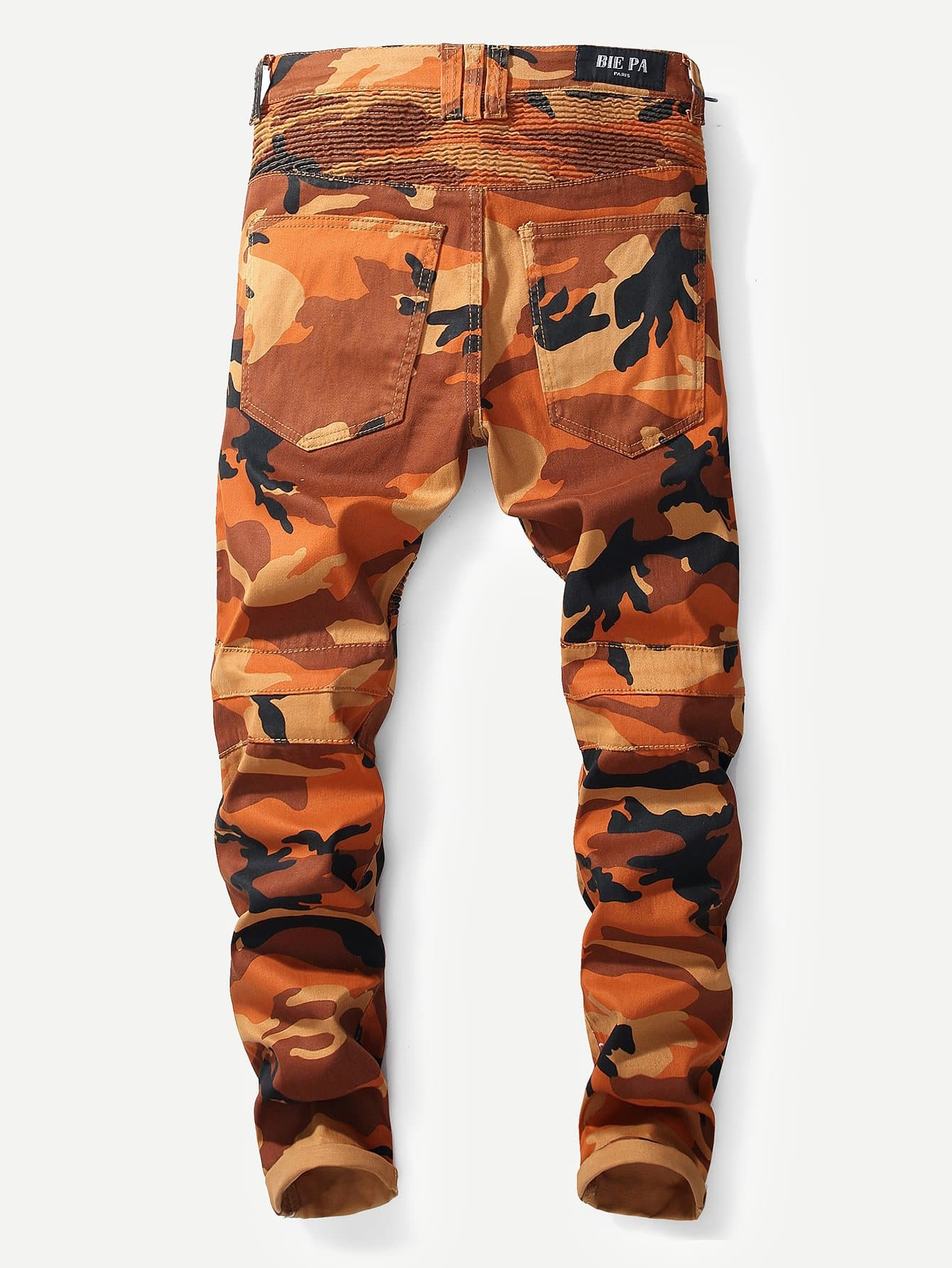 Camo jeans decorazione zip uomo italian shein sheinside for Decorazione jeans
