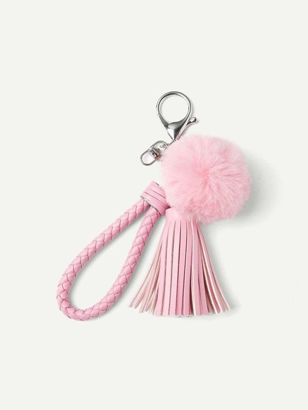 16e81ba4e8 Pom Pom & Tassel Design Keychain | SHEIN