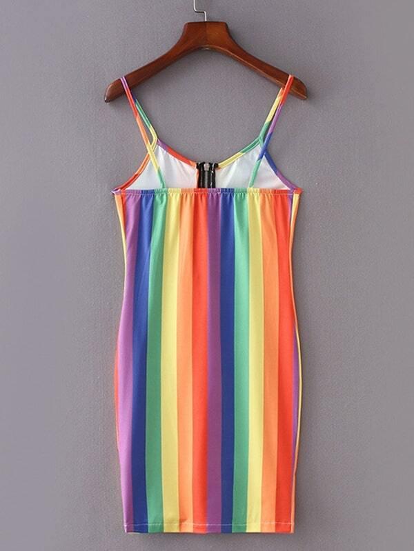 d5a73cb11a Cheap Rainbow Stripe Cami Dress for sale Australia   SHEIN