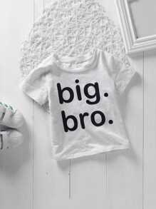 Toddler Boys Letter Print T-shirt