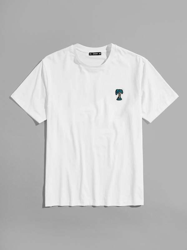 Shirt Patch Découpé Homme Avec Tee 7gybf6