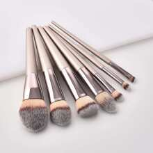 INOpets.com Anything for Pets Parents & Their Pets Metallic Handle Makeup Brush 7pcs