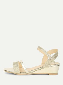 Metallic Peep Toe Sandals