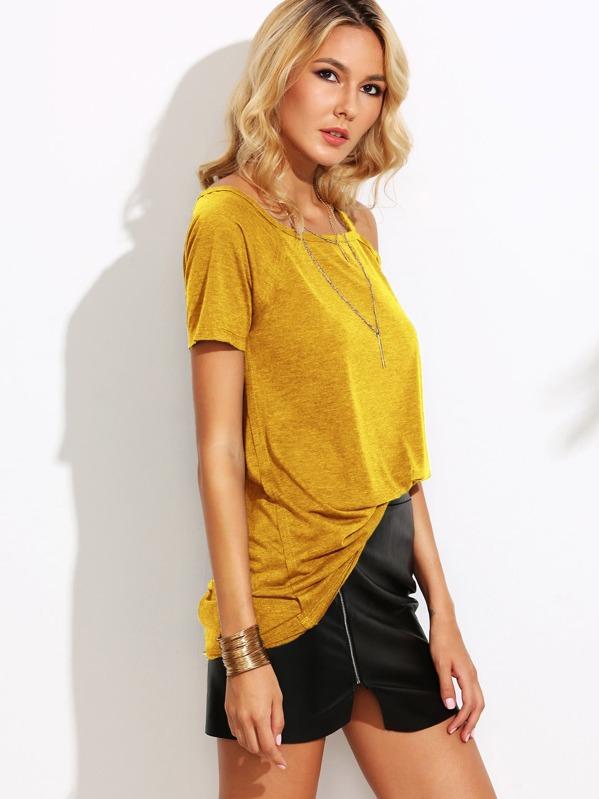 6b3314d05b5b Asymmetric Cold Shoulder T-shirt | SHEIN