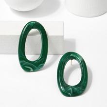 - Irregular Shaped Hoop Earrings