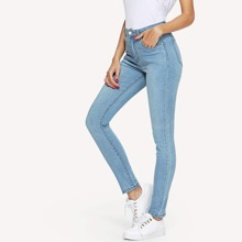 SHEIN | Skinny Solid Jeans | Goxip