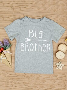 Toddler Boys Letter Print Tee