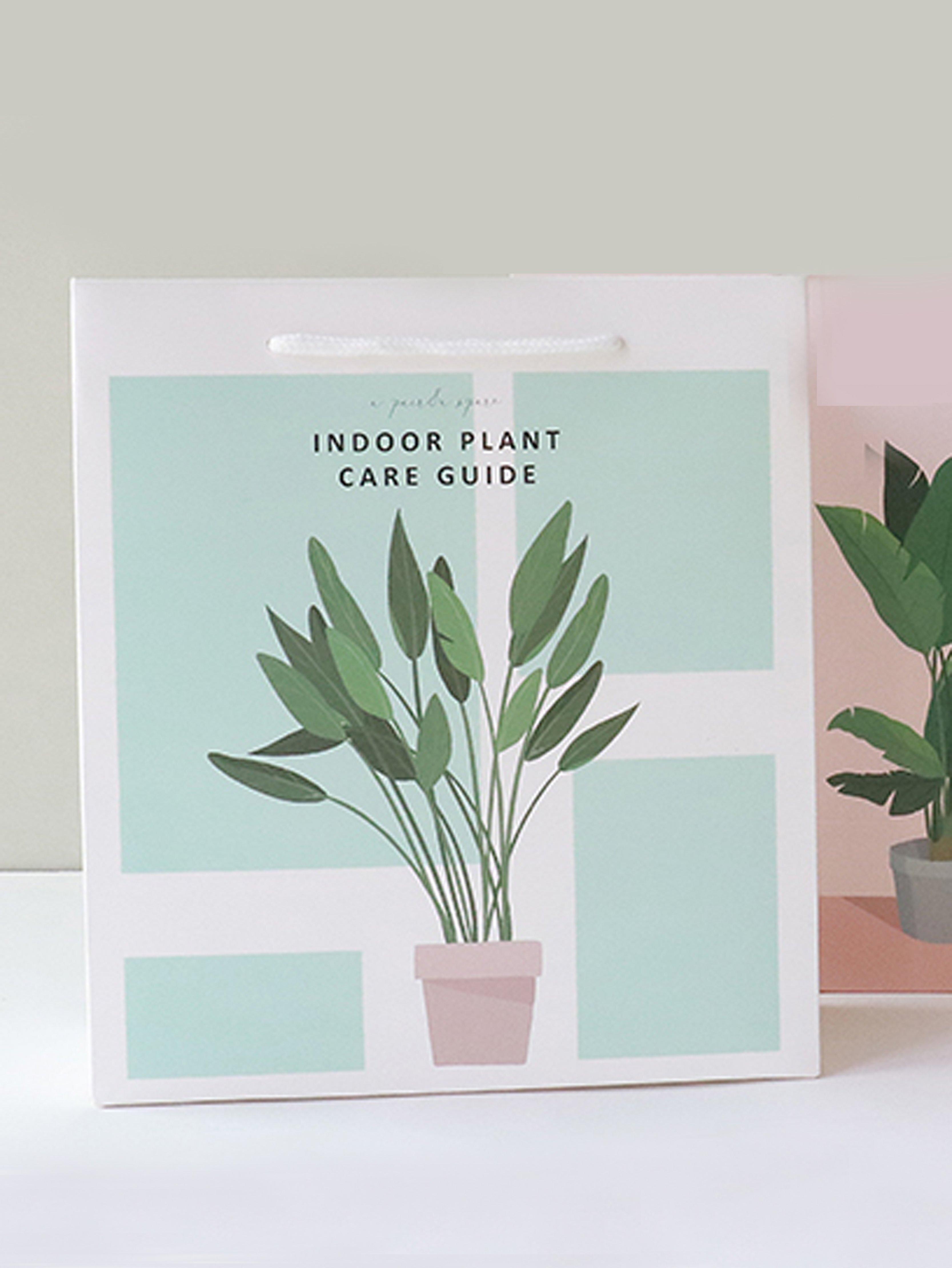 Indoor Plant Print Paper Bag