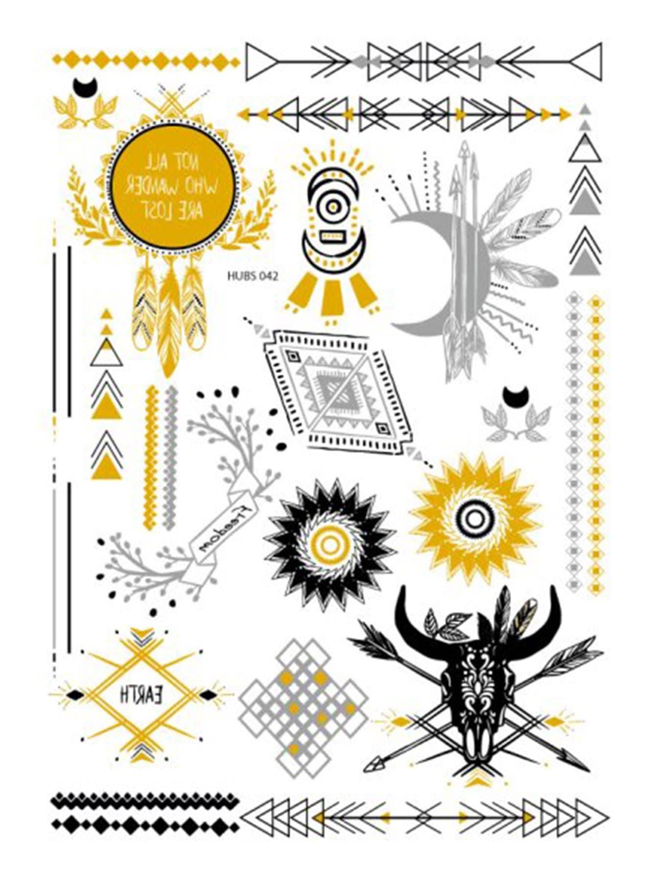 c9270234bbe Geometric   Moon Detail Tattoo Sticker