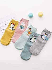 Animal Pattern Socks 5pairs