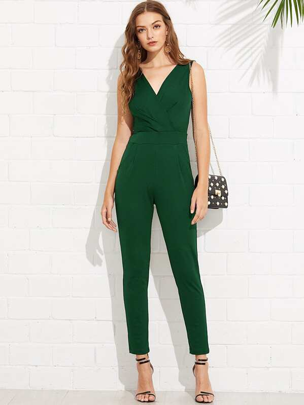 f86339b81d0 Cheap V Neckline Solid Wrap Jumpsuit for sale Australia