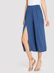 Split Front Wide Leg Pants
