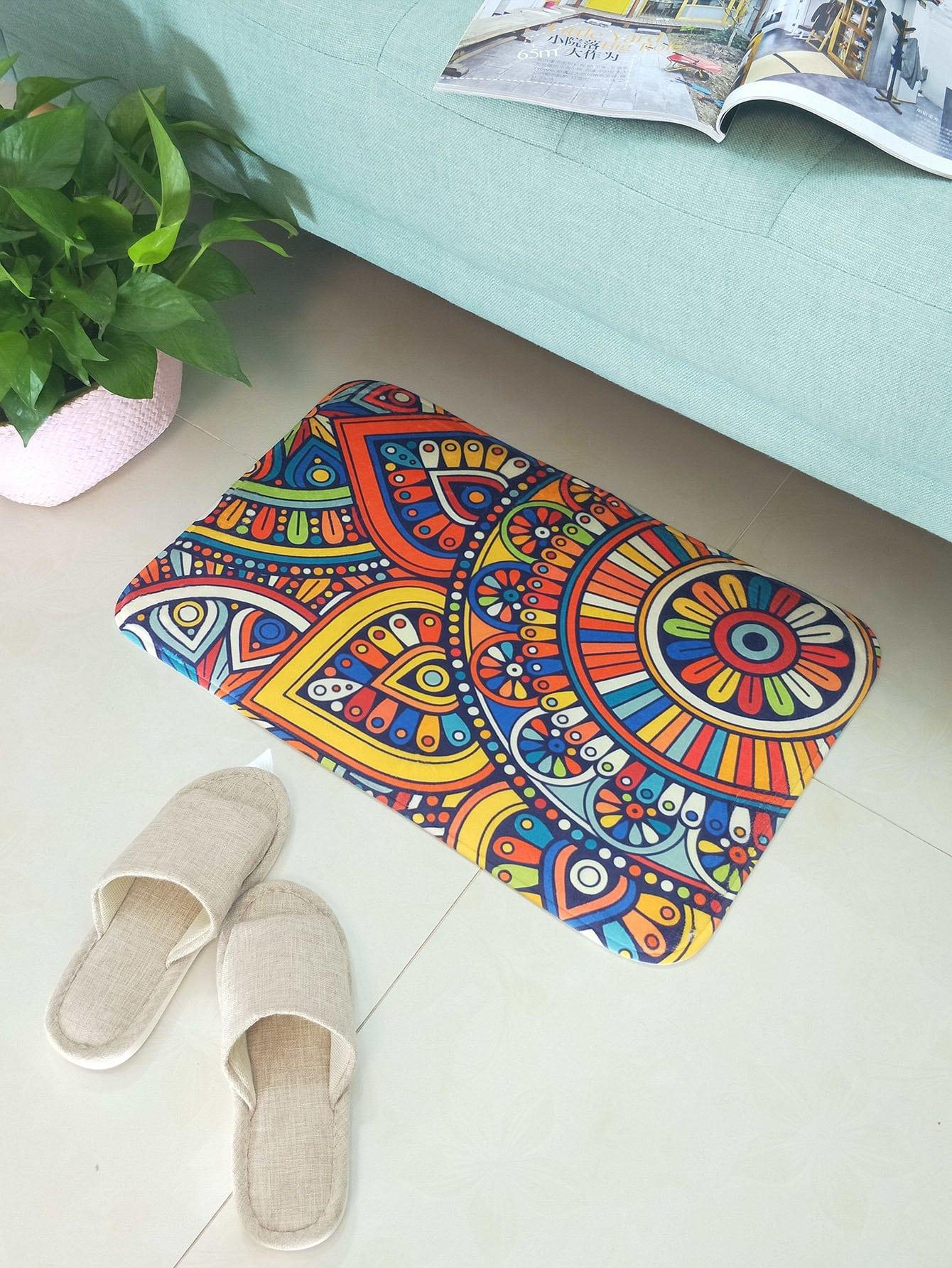 tapis de porte imprim fleur de lotus french romwe. Black Bedroom Furniture Sets. Home Design Ideas
