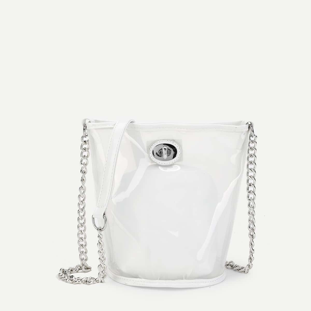 - PVC Chain Bag With Inner Pouch