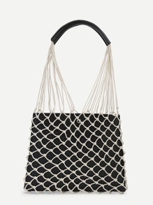Net Overlay Shoulder Bag