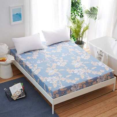 Flower Print Fitted Sheet