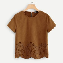 - Scallop Laser Cut Out Top