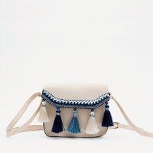 Tassel Detail Flap Crossbody Bag
