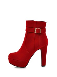 Platform High Heeled Ankle Boots