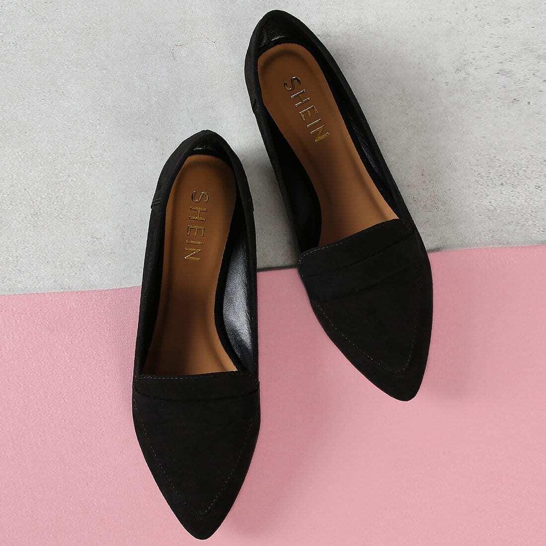искусственный нубук остроносые туфли без каблуков