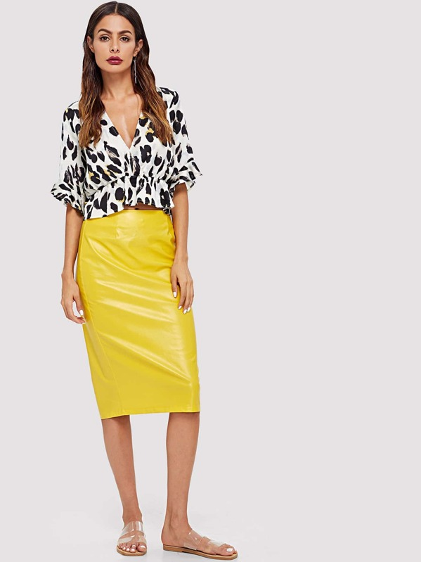 89232befd782a Leopard Print Ruffle Blouse