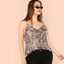 Plus Snake Skin Cami Top vest180525701