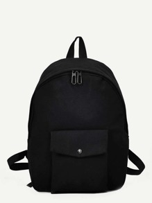 Pocket Front Canvas Backpack